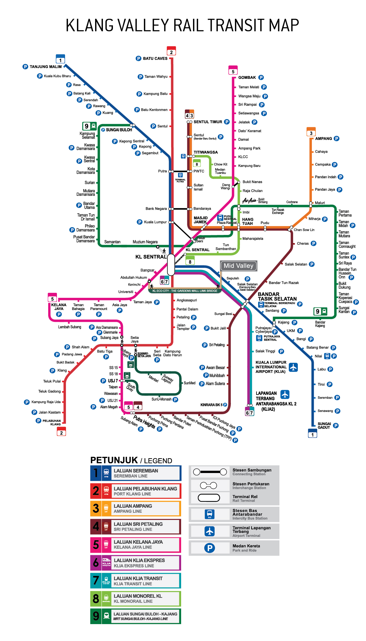Map Of Asia Jaya Lrt Station.Getting Here By Train Mid Valley Megamall