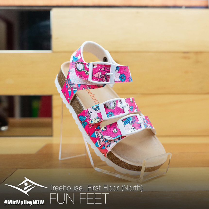 Go colourful all the way with storybook sandal that tell a tale with every happy step